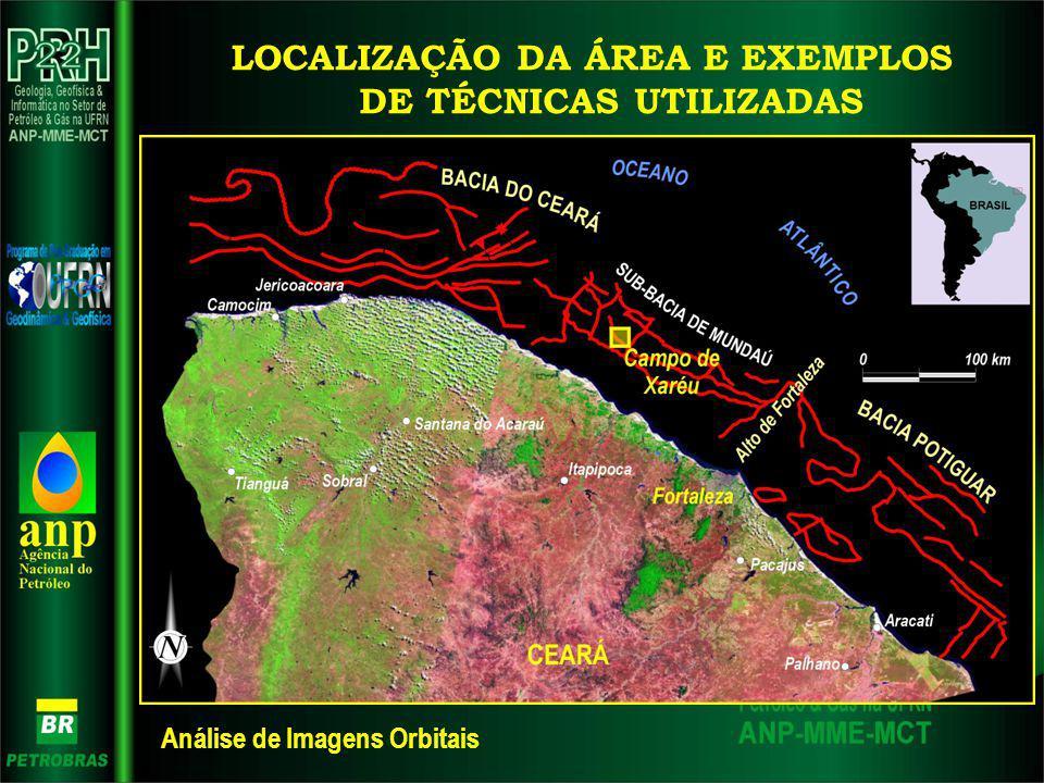 LOCALIZAÇÃO DA ÁREA E EXEMPLOS DE TÉCNICAS UTILIZADAS