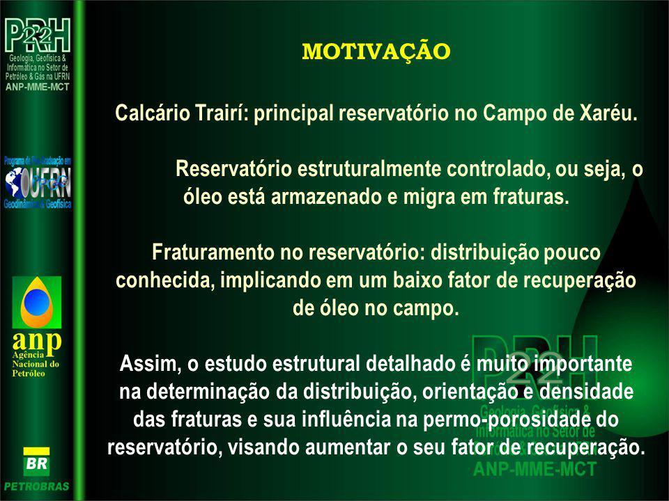 Calcário Trairí: principal reservatório no Campo de Xaréu.