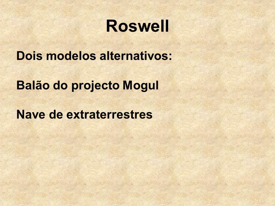 Roswell Dois modelos alternativos: Balão do projecto Mogul
