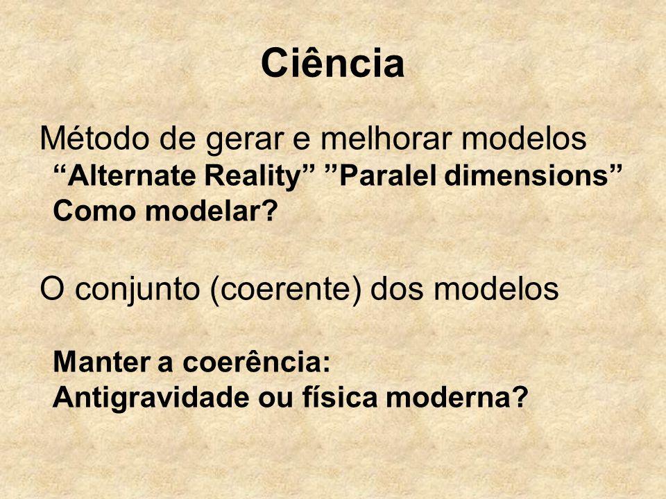 Ciência Método de gerar e melhorar modelos