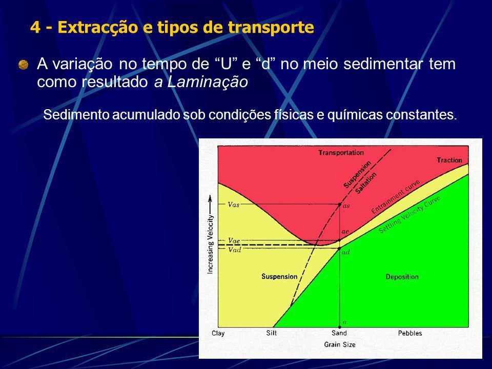4 - Extracção e tipos de transporte