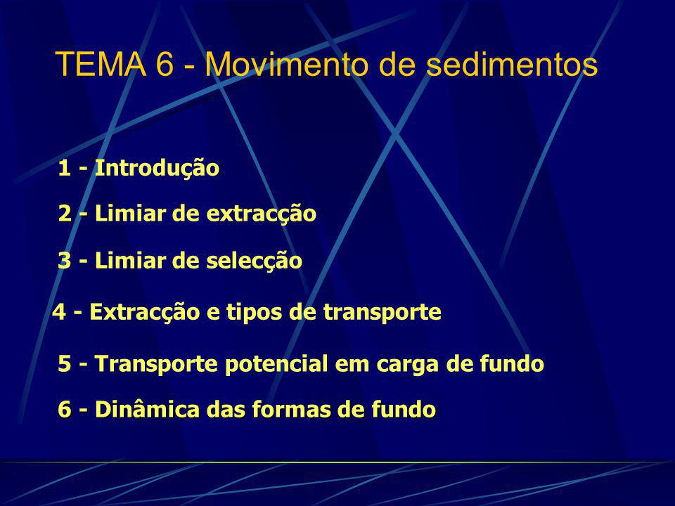 TEMA 6 - Movimento de sedimentos