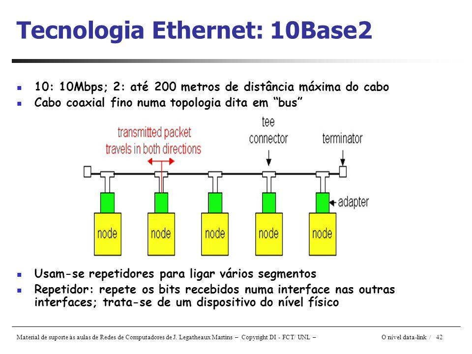 Tecnologia Ethernet: 10Base2