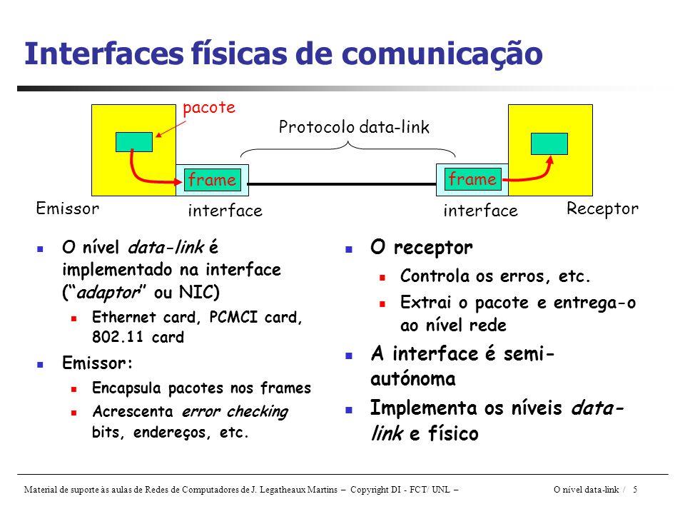 Interfaces físicas de comunicação