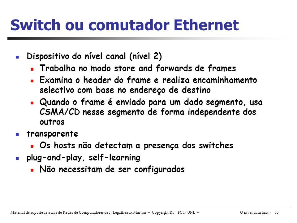 Switch ou comutador Ethernet