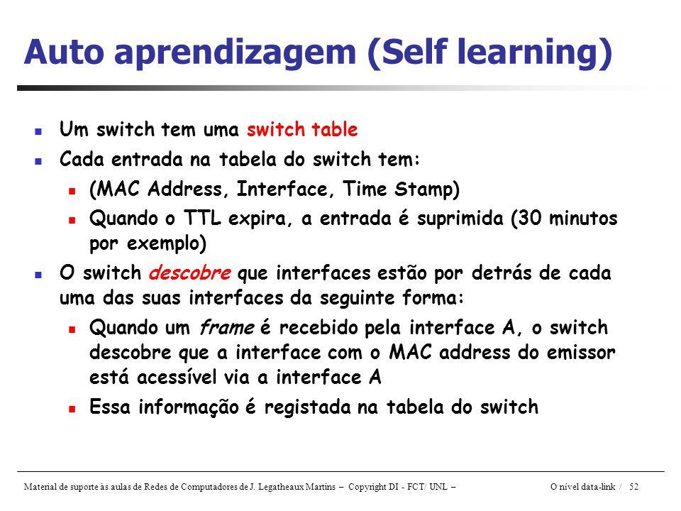 Auto aprendizagem (Self learning)