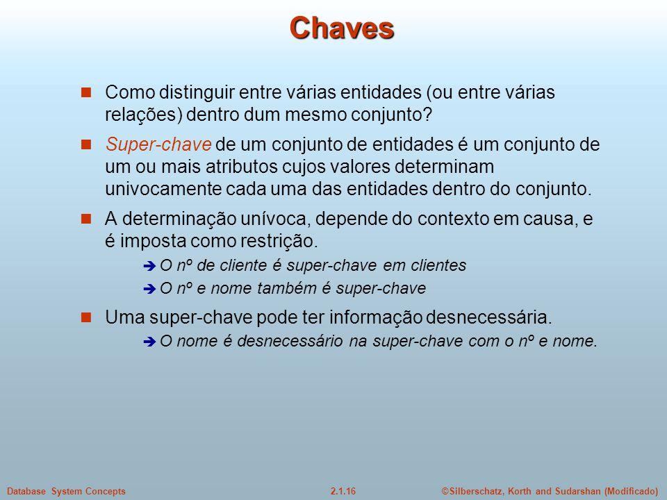 Chaves Como distinguir entre várias entidades (ou entre várias relações) dentro dum mesmo conjunto