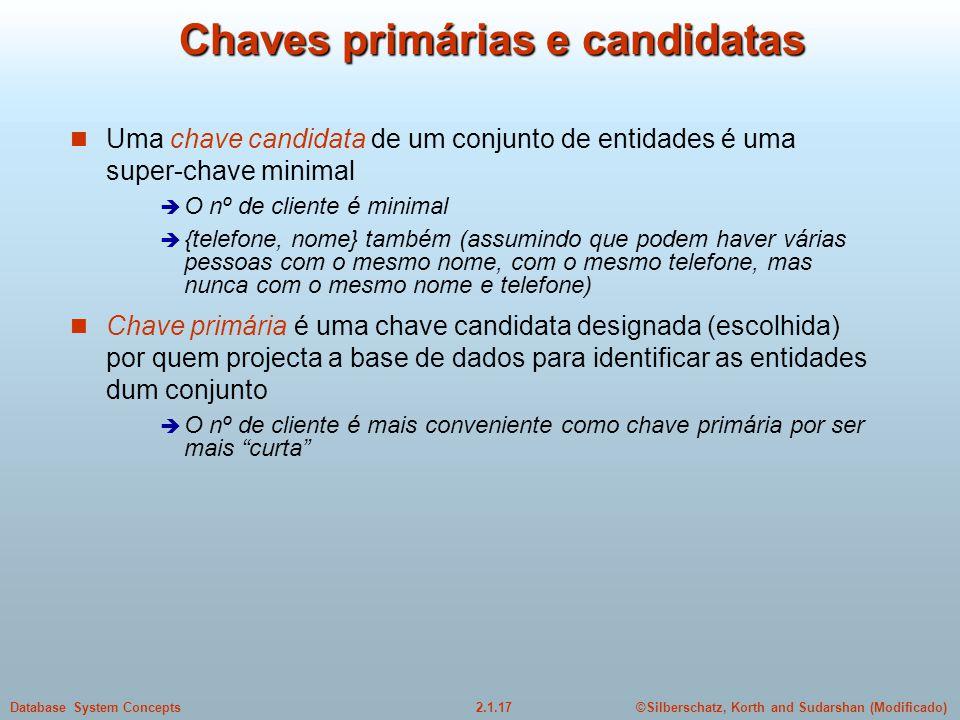Chaves primárias e candidatas