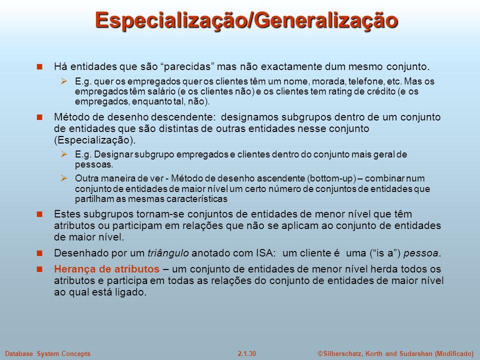 Especialização/Generalização