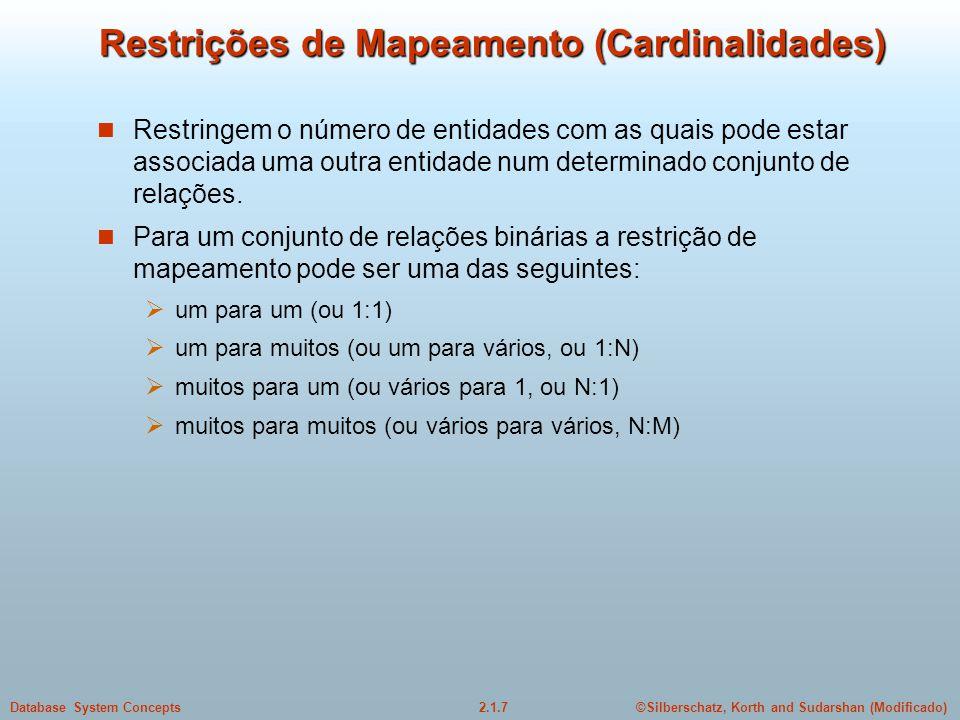 Restrições de Mapeamento (Cardinalidades)
