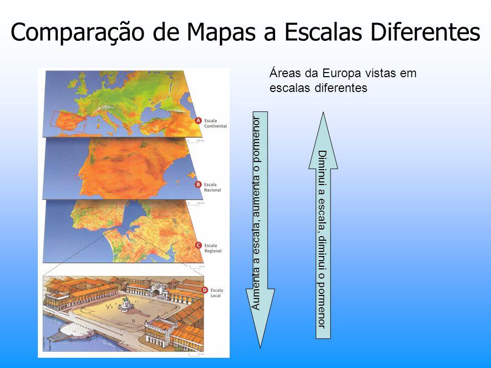 Comparação de Mapas a Escalas Diferentes