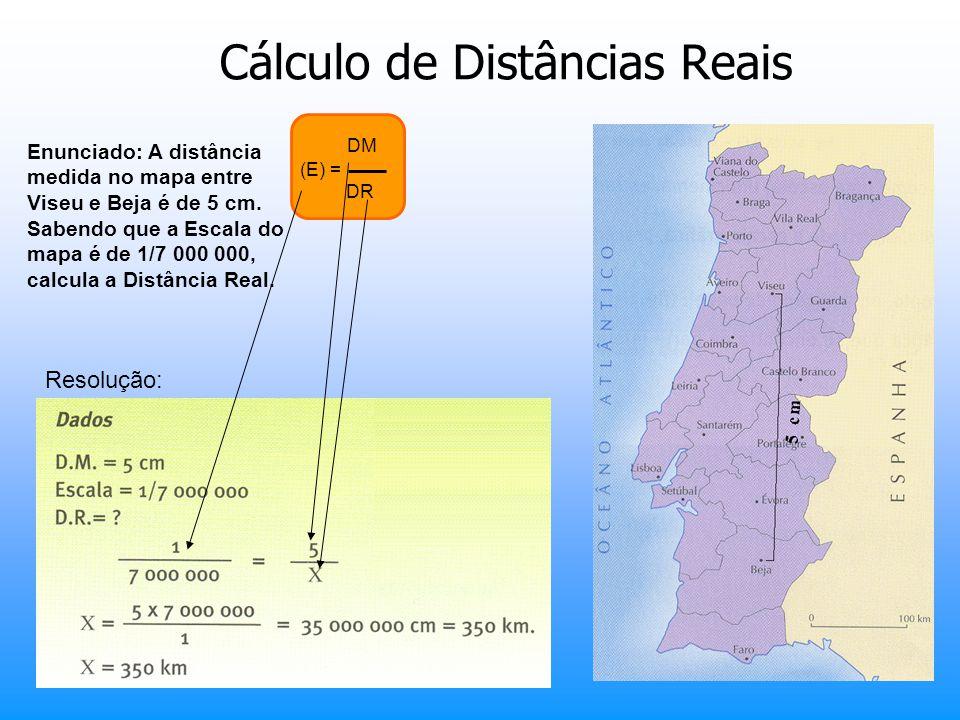 Cálculo de Distâncias Reais