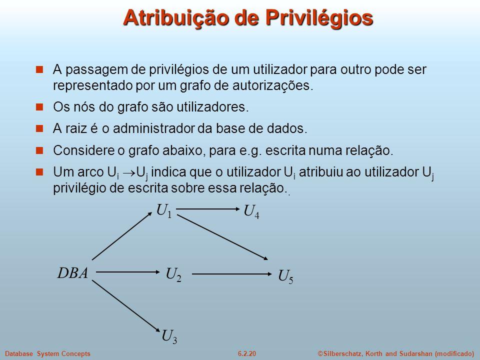 Atribuição de Privilégios