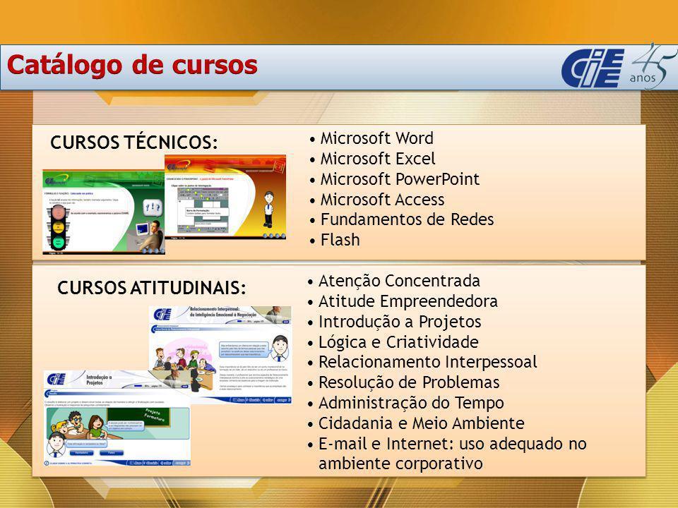 Catálogo de cursos CURSOS TÉCNICOS: CURSOS ATITUDINAIS: Microsoft Word