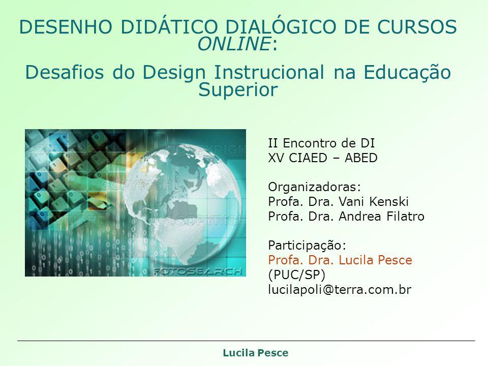 DESENHO DIDÁTICO DIALÓGICO DE CURSOS ONLINE: