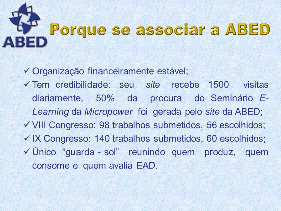 Organização financeiramente estável;