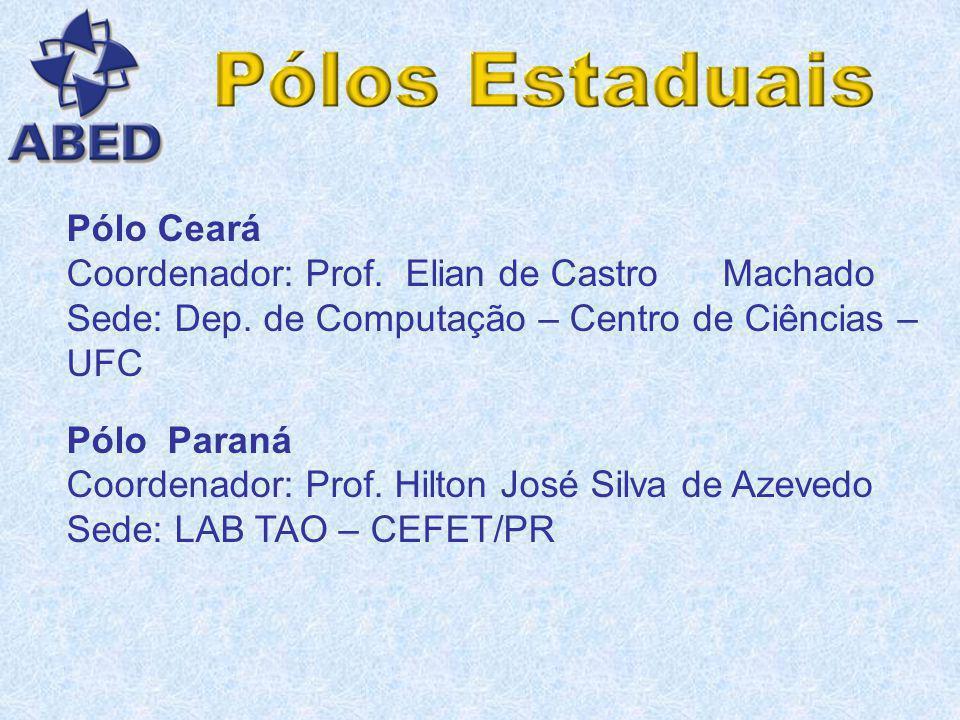 Pólo Ceará Coordenador: Prof. Elian de Castro Machado. Sede: Dep. de Computação – Centro de Ciências – UFC.