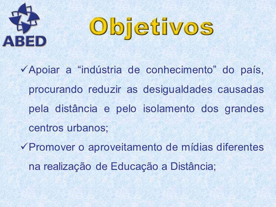 Apoiar a indústria de conhecimento do país, procurando reduzir as desigualdades causadas pela distância e pelo isolamento dos grandes centros urbanos;