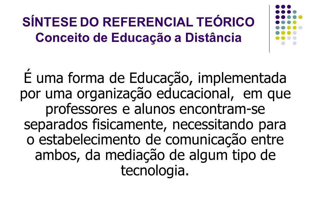 SÍNTESE DO REFERENCIAL TEÓRICO Conceito de Educação a Distância