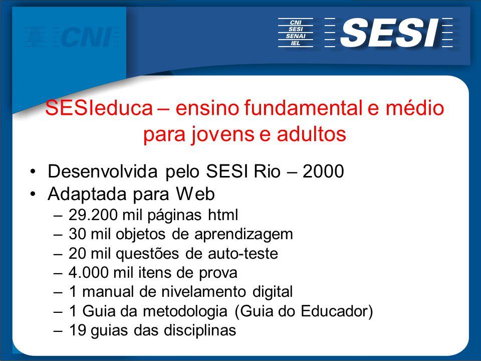 SESIeduca – ensino fundamental e médio para jovens e adultos