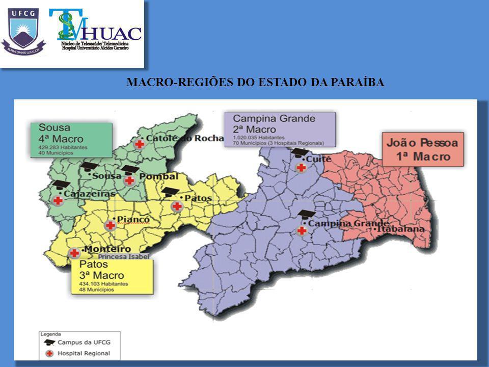 MACRO-REGIÕES DO ESTADO DA PARAÍBA