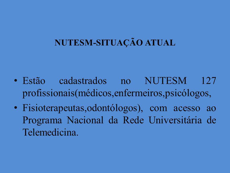 NUTESM-SITUAÇÃO ATUAL