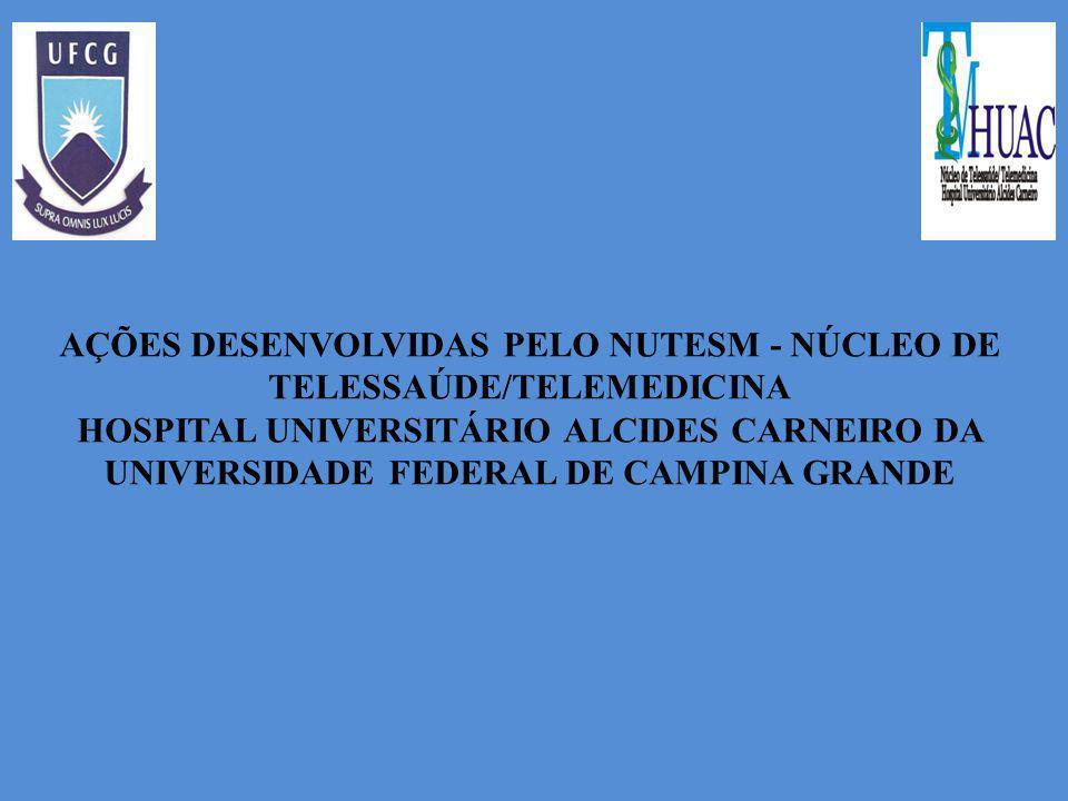 AÇÕES DESENVOLVIDAS PELO NUTESM - NÚCLEO DE TELESSAÚDE/TELEMEDICINA