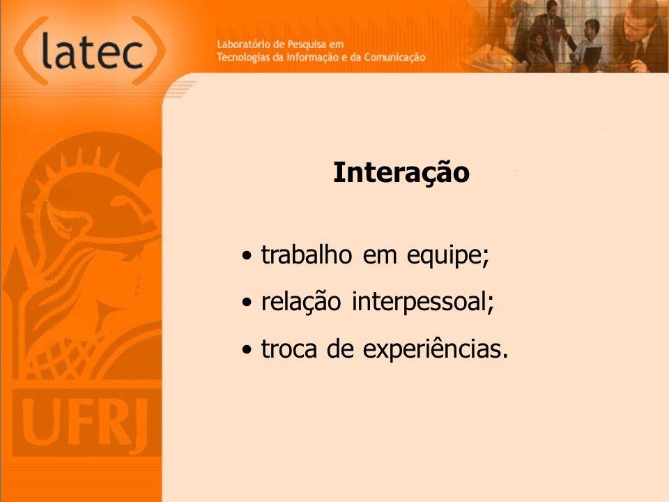 Interação trabalho em equipe; relação interpessoal;