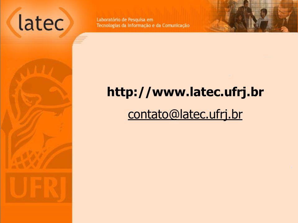 http://www.latec.ufrj.br contato@latec.ufrj.br