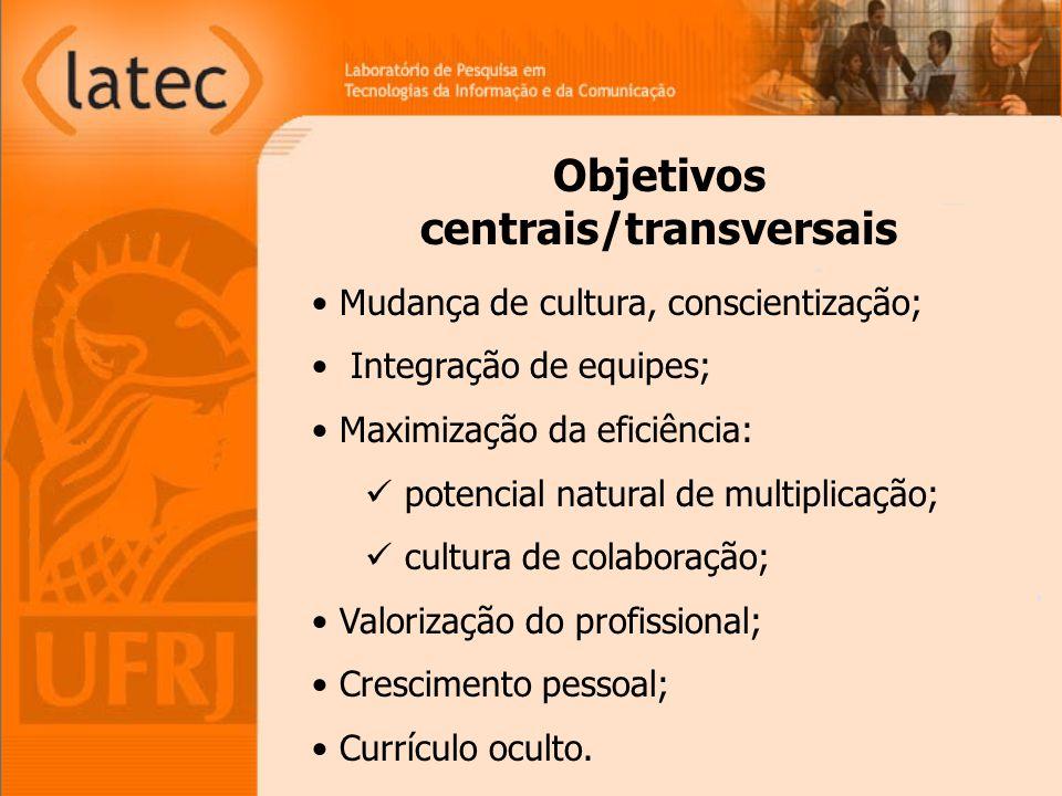 Objetivos centrais/transversais