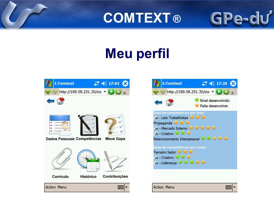 COMTEXT ® Meu perfil