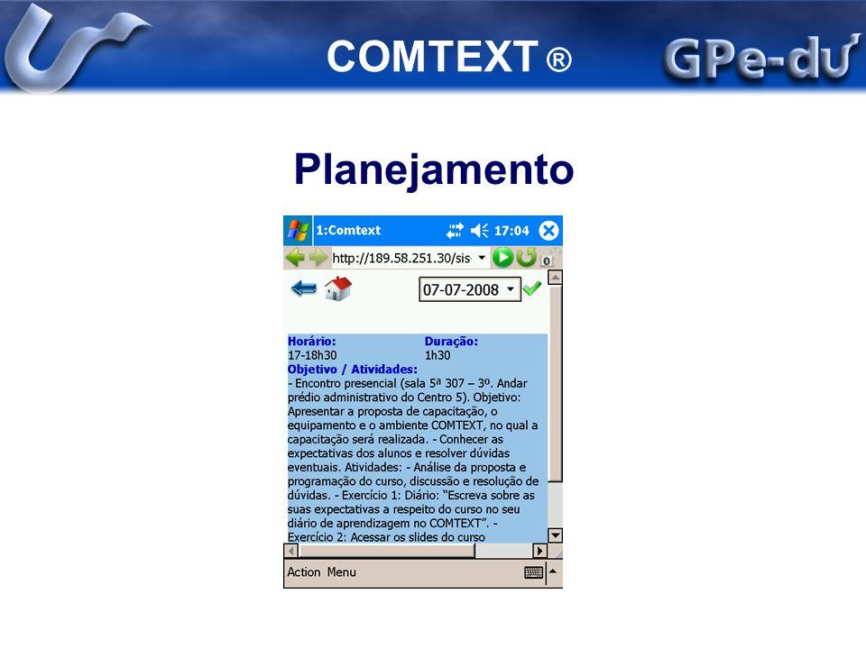 COMTEXT ® Planejamento