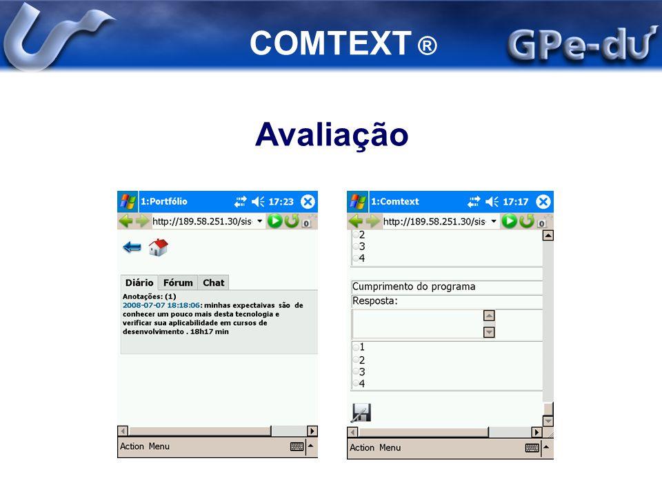 COMTEXT ® Avaliação