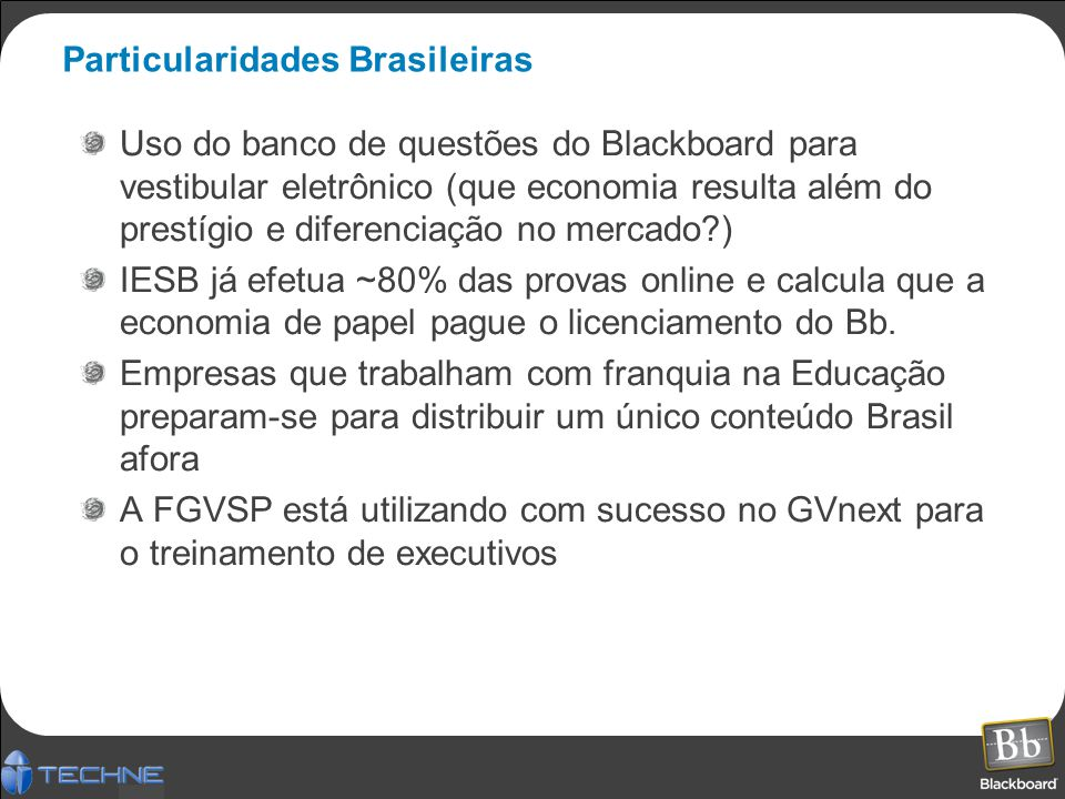 Particularidades Brasileiras
