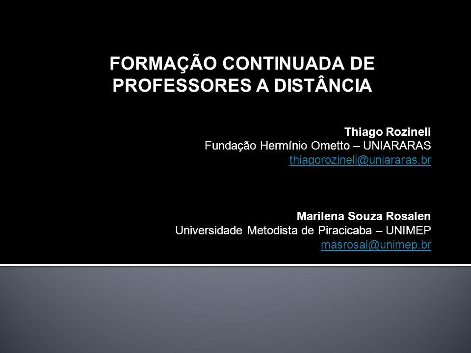 FORMAÇÃO CONTINUADA DE PROFESSORES A DISTÂNCIA