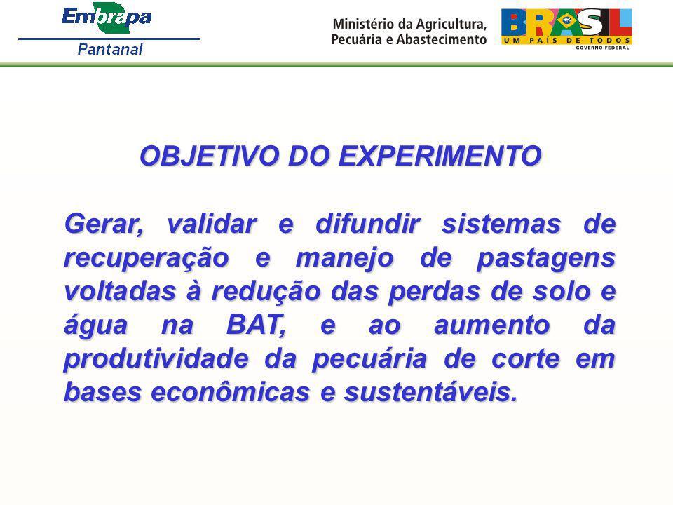 OBJETIVO DO EXPERIMENTO