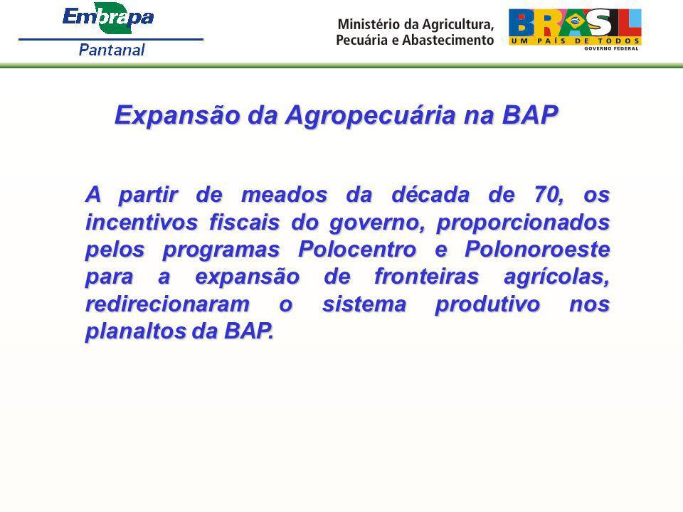 Expansão da Agropecuária na BAP