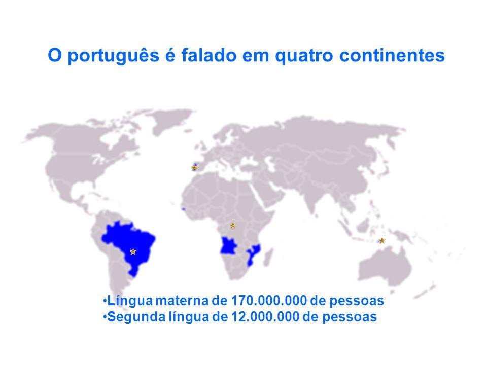 O português é falado em quatro continentes