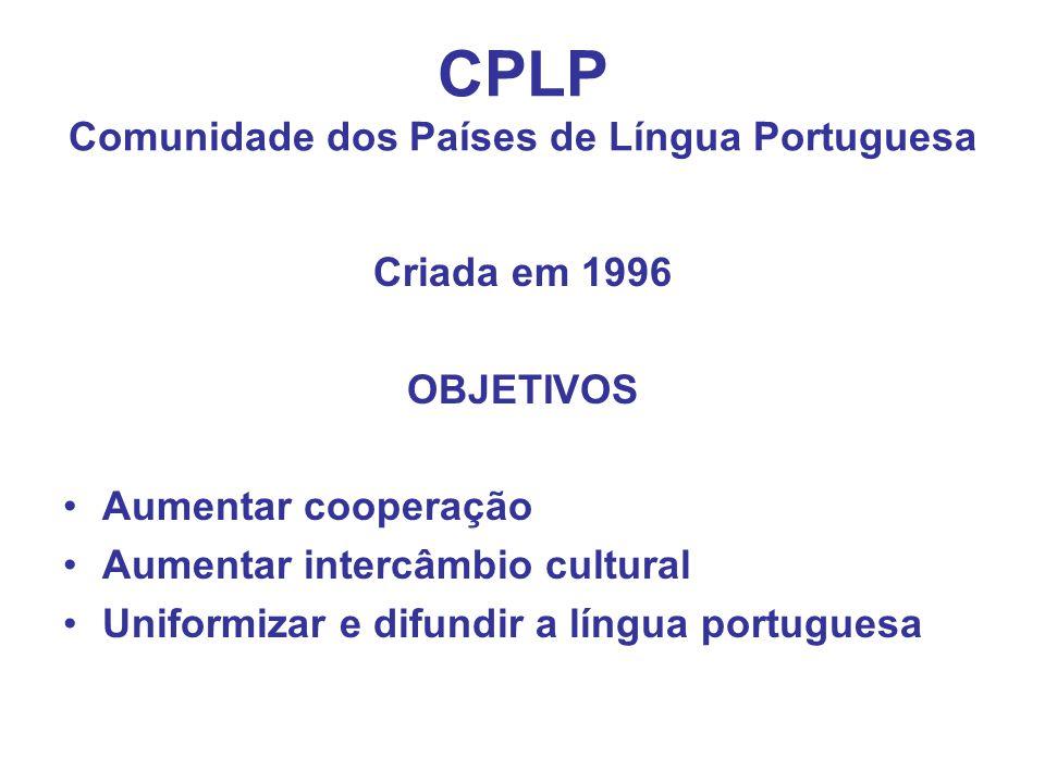 CPLP Comunidade dos Países de Língua Portuguesa