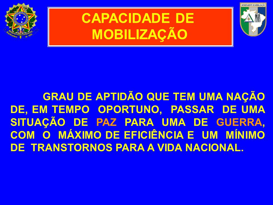 CAPACIDADE DE MOBILIZAÇÃO
