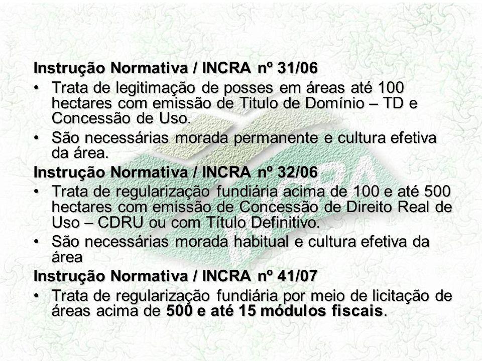 Instrução Normativa / INCRA nº 31/06
