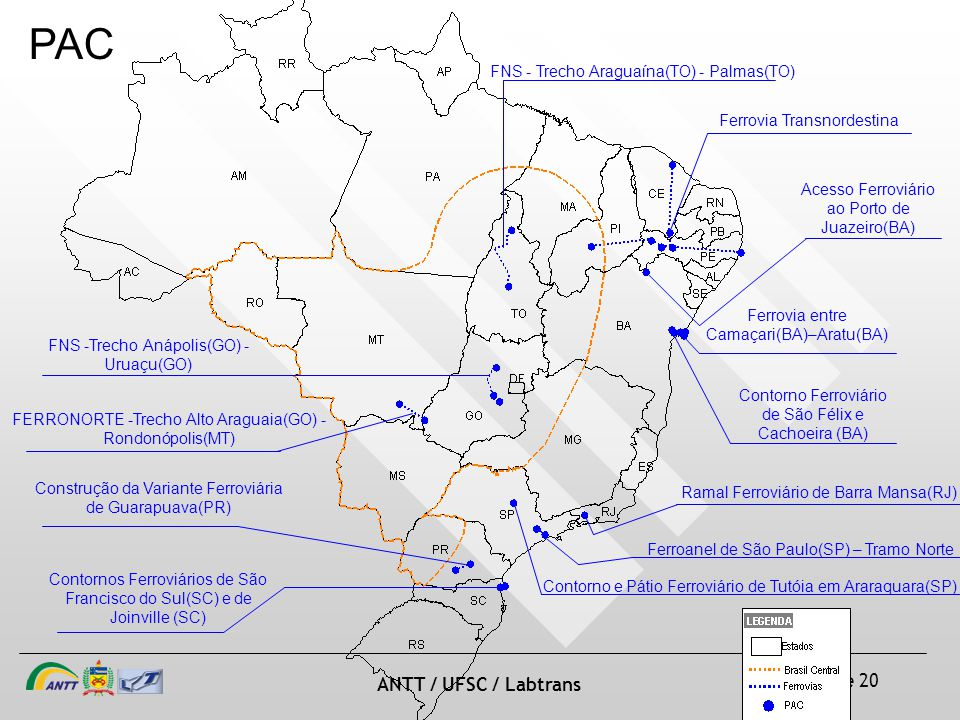 PAC FNS - Trecho Araguaína(TO) - Palmas(TO) Ferrovia Transnordestina