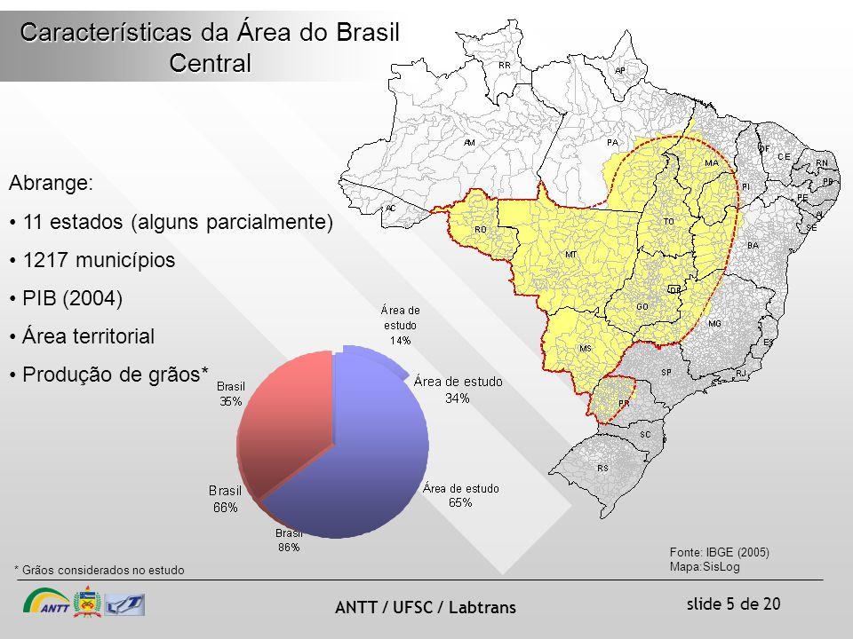 Características da Área do Brasil Central