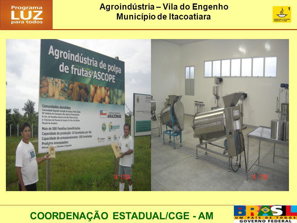 Agroindústria – Vila do Engenho Município de Itacoatiara