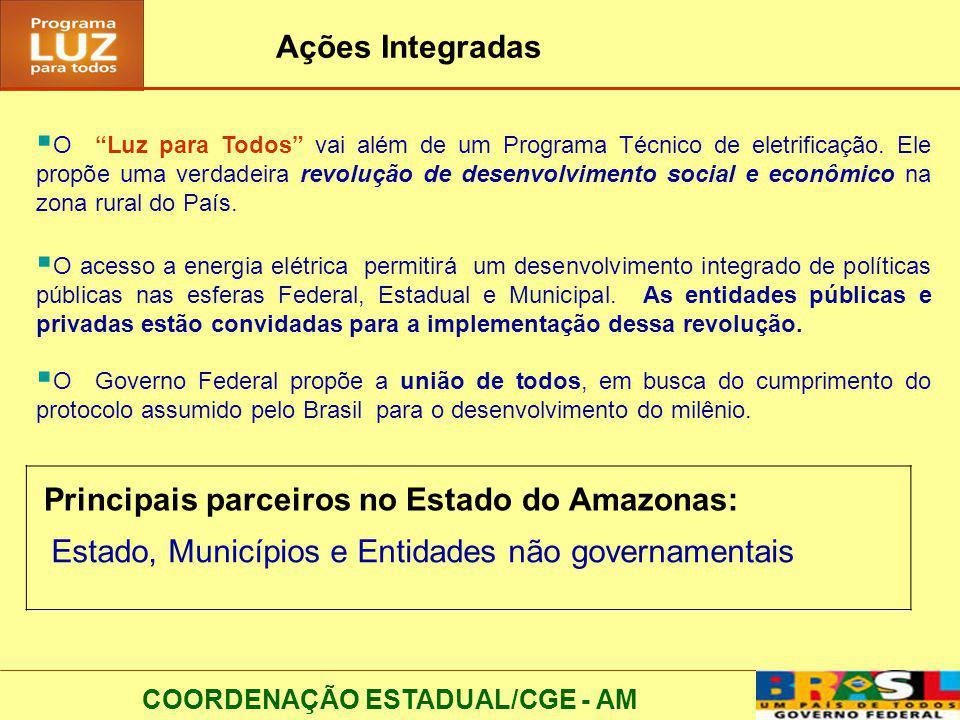 Principais parceiros no Estado do Amazonas: