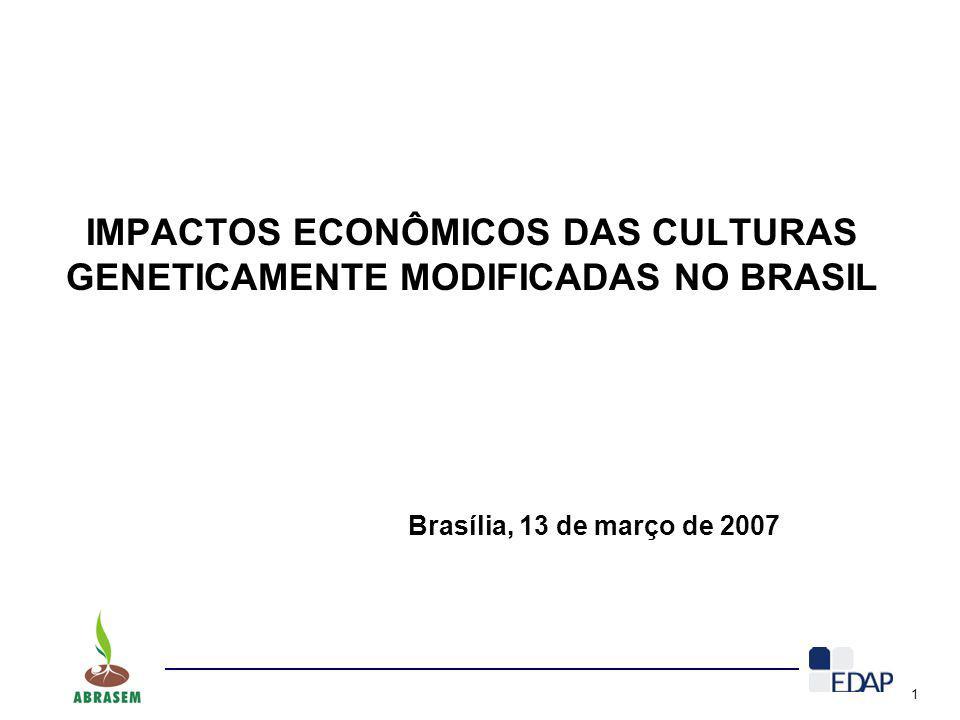 IMPACTOS ECONÔMICOS DAS CULTURAS GENETICAMENTE MODIFICADAS NO BRASIL