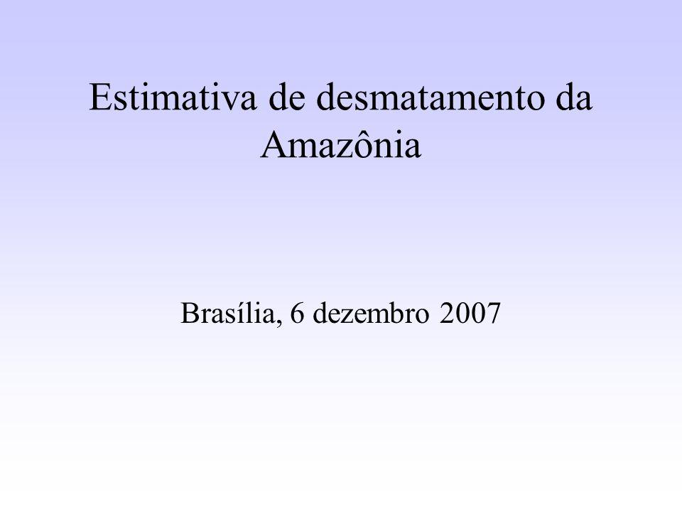 Estimativa de desmatamento da Amazônia
