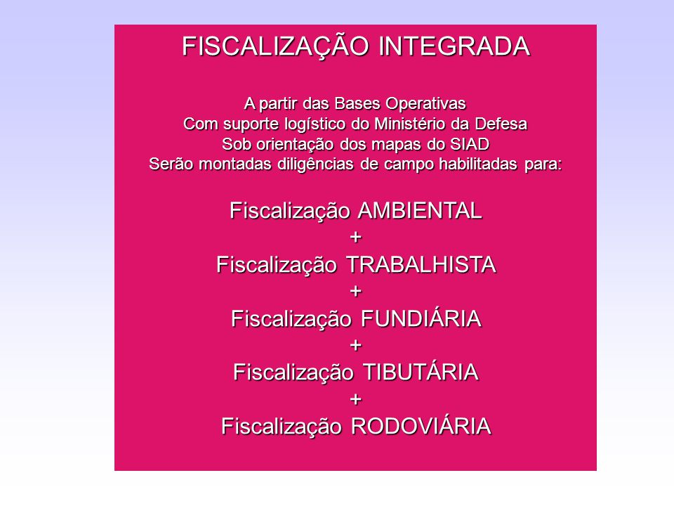 FISCALIZAÇÃO INTEGRADA