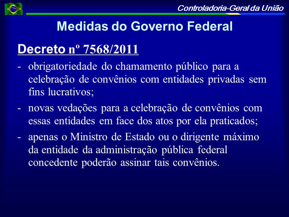 Medidas do Governo Federal