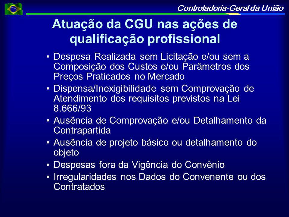 Atuação da CGU nas ações de qualificação profissional